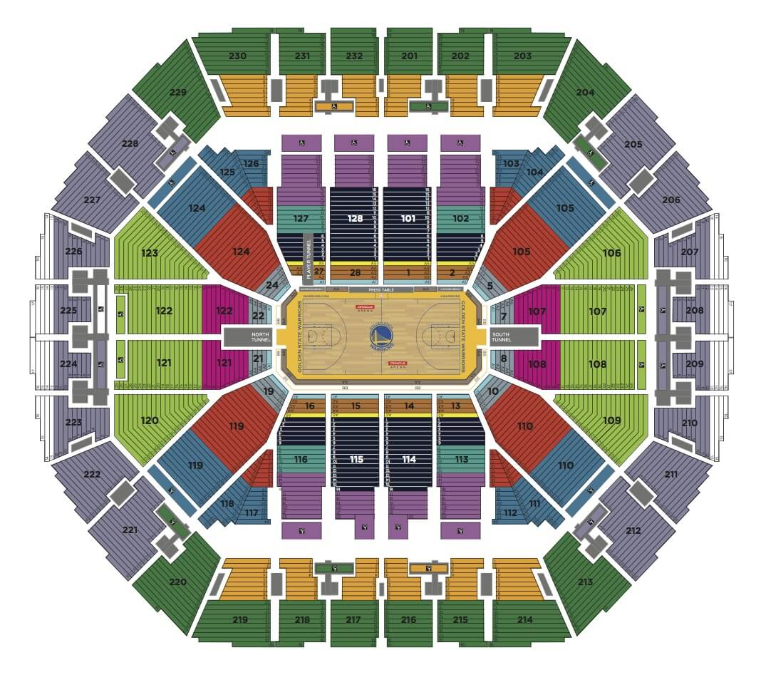 Oracle Arena Seating Chart Concert Rooftop Restaurants In