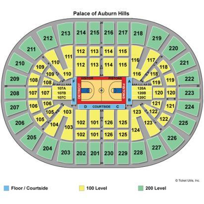 Palace Of Auburn Hills Seating Chart